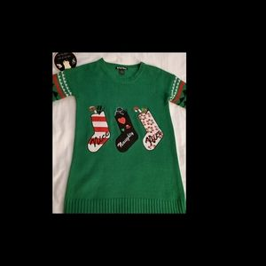 Planet Gold M Ugly Christmas Sweater
